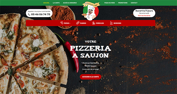 La Pizza du Chef