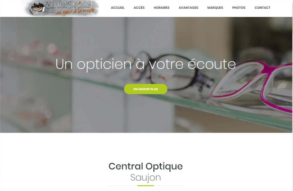 Site Web Central Optique Saujon