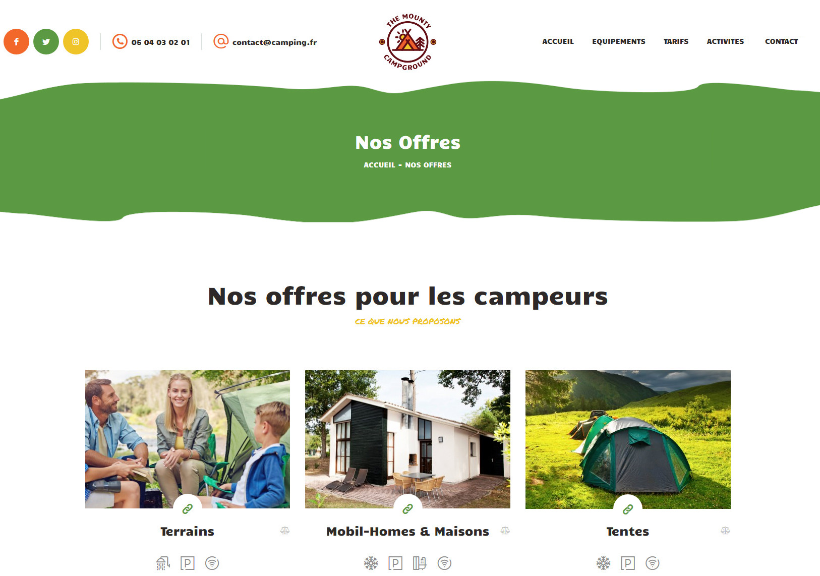 Création Site Web Camping